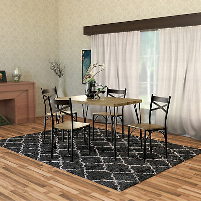 Gracie Oaks Autberry 5 Piece Dining Set – $239.99 (Gallery 13 of 20)