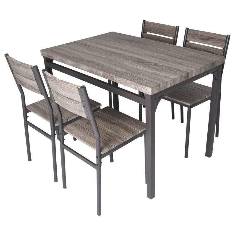 Gracie Oaks Emmeline 5 Piece Breakfast Nook Dining Set & Reviews With Regard To Most Recent Tavarez 5 Piece Dining Sets (Gallery 8 of 20)