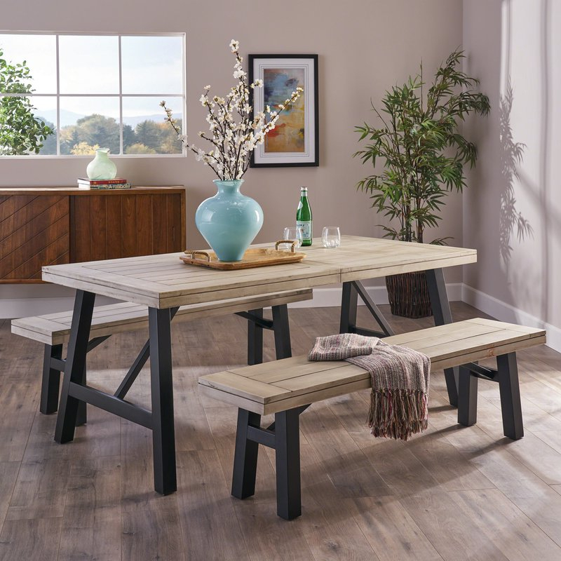 Guillaume 3 Piece Dining Set & Reviews (View 8 of 20)
