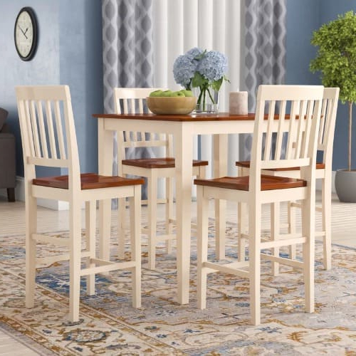 Handys Mysliwiec 5 Piece Counter Height Breakfast Nook Dining Set Intended For Most Recent Mysliwiec 5 Piece Counter Height Breakfast Nook Dining Sets (View 9 of 20)