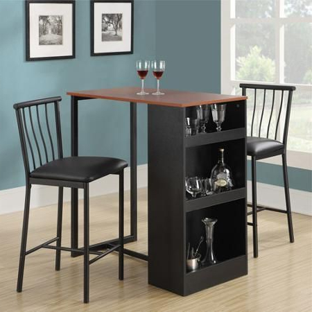 Height Dining Table 3 Piece Set Counter Bar Pub Breakfast Kitchen With Regard To Favorite Ligon 3 Piece Breakfast Nook Dining Sets (View 13 of 20)