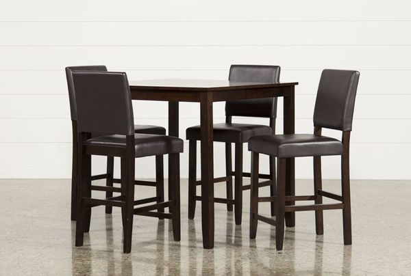 Jarrod 5 Piece Dining Sets Throughout Well Liked Jarrod 5 Piece Dining Counter Set Bought From Living Spaces For Sale (View 9 of 20)