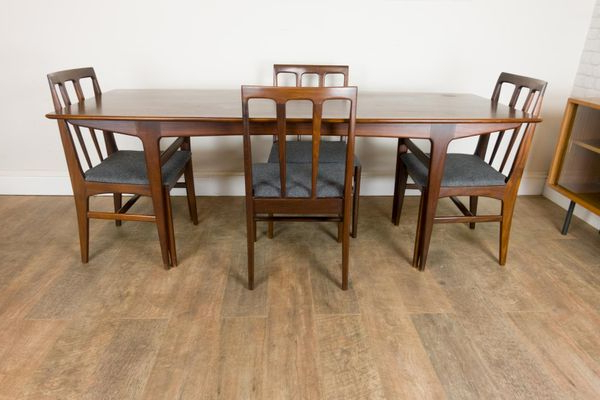 John 4 Piece Dining Sets Inside Recent Afromosia Table And 4 Chairsjohn Herbert For Younger, 1960S For (Gallery 13 of 20)