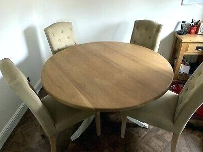 John Lewis Dining Chairs Sale John Round Oak Dining Table And 4 Intended For Favorite John 4 Piece Dining Sets (View 7 of 20)