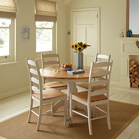 John Lewis & Partners Regent Round 4 6 Seater Extending Dining Table In Most Up To Date John 4 Piece Dining Sets (View 5 of 20)