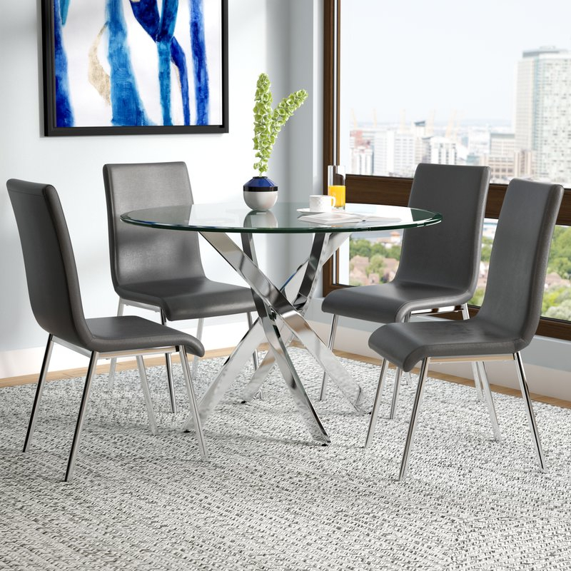Joss & Main Pertaining To Most Current Wiggs 5 Piece Dining Sets (View 7 of 20)