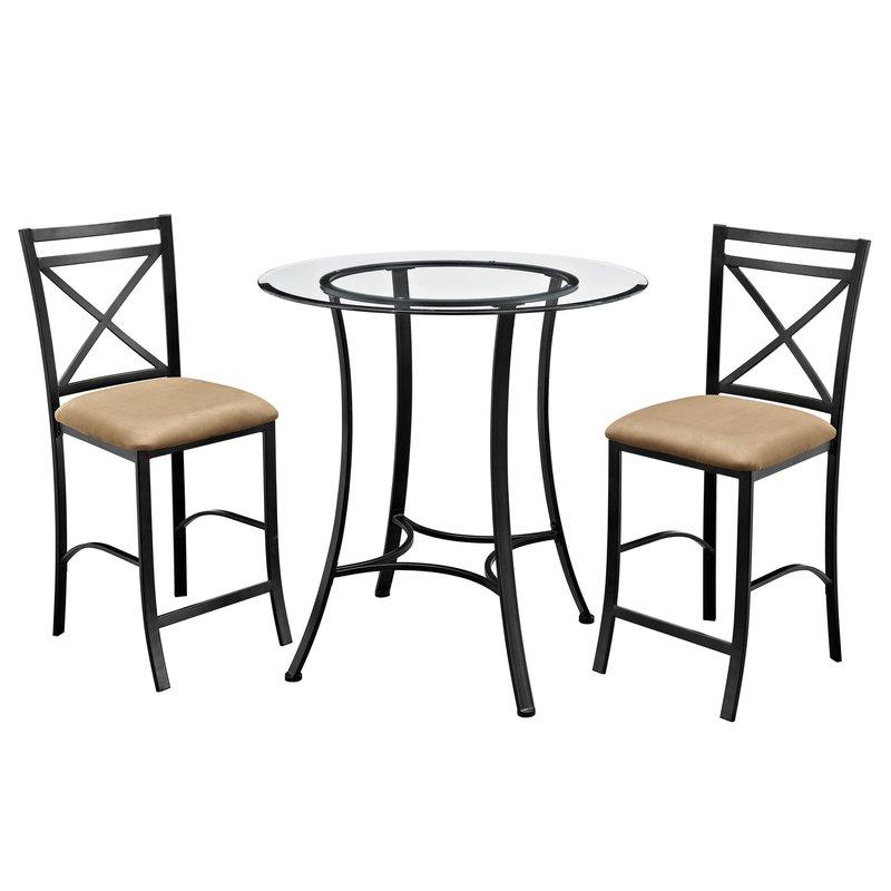 Joss & Main Regarding Nutter 3 Piece Dining Sets (View 6 of 20)