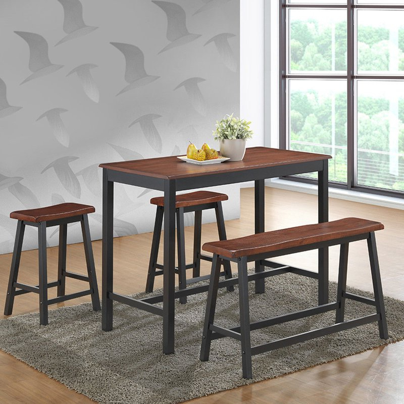 Kerley 4 Piece Dining Sets Throughout Fashionable Millwood Pines Castillo 4 Piece Breakfast Nook Dining Set & Reviews (View 8 of 20)