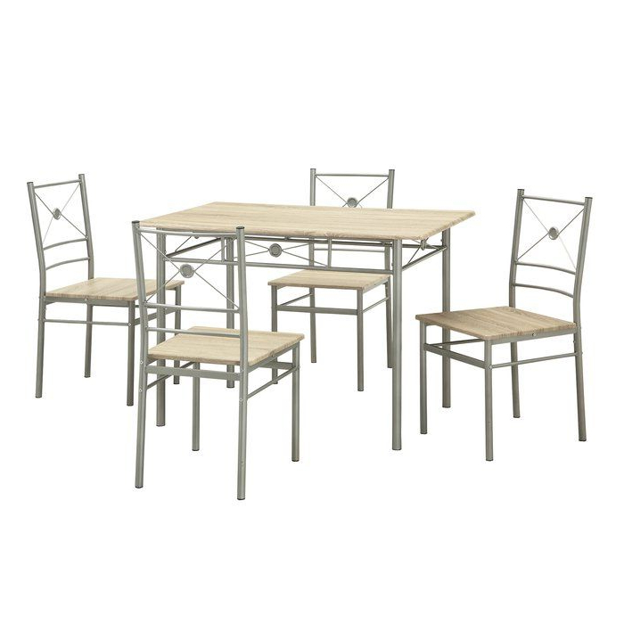 Kieffer 5 Piece Dining Sets Intended For Most Recent Kieffer 5 Piece Dining Set In  (View 11 of 20)