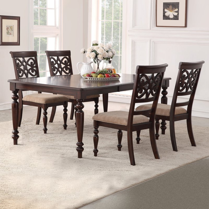 Laconia 7 Pieces Solid Wood Dining Sets (set Of 7) Regarding Well Known Darby Home Co Laconia 5 Piece Extendable Dining Set & Reviews (View 8 of 20)