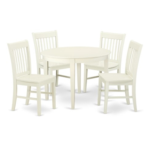 Lamotte 5 Piece Dining Sets For Current East West Furniture Boston Bono5 Five Piece Round Dining Table Set (Gallery 14 of 20)