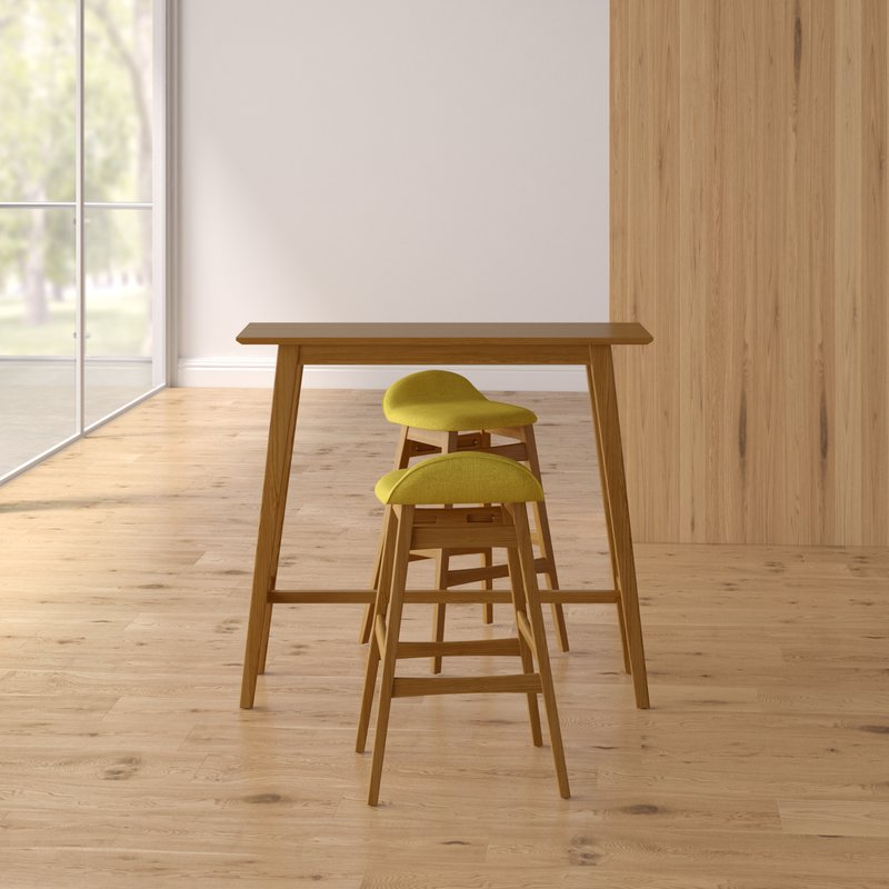 Langley Street Adriana 3 Piece Pub Table Set & Reviews (View 9 of 20)