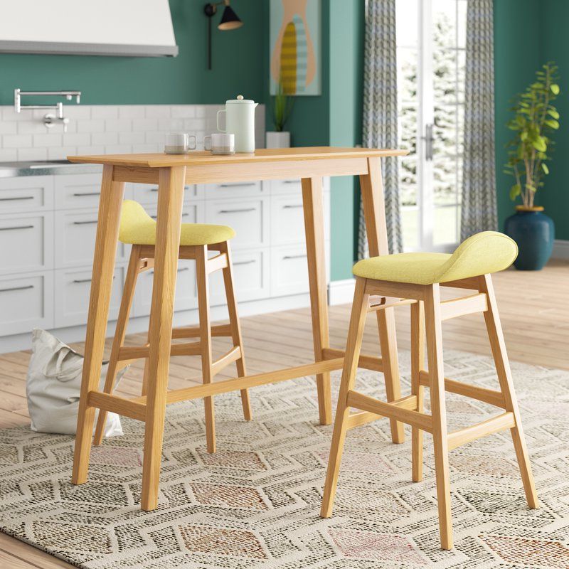 Langley Street Adriana 3 Piece Pub Table Set & Reviews (Gallery 1 of 20)