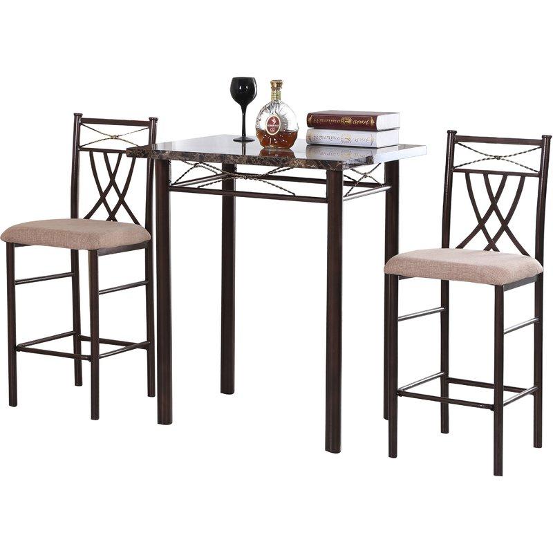 Latest Cincinnati 3 Piece Dining Sets Regarding Andover Mills Cincinnati 3 Piece Dining Set & Reviews (Gallery 3 of 20)