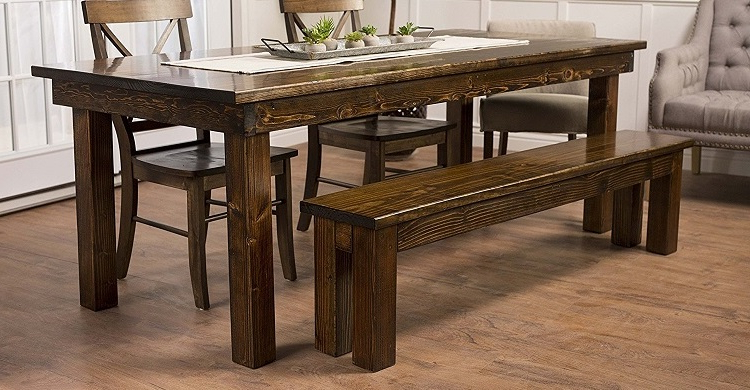 Latest Farmhouse Dining Tables – Farmhouse Goals Within Emmeline 5 Piece Breakfast Nook Dining Sets (View 15 of 20)