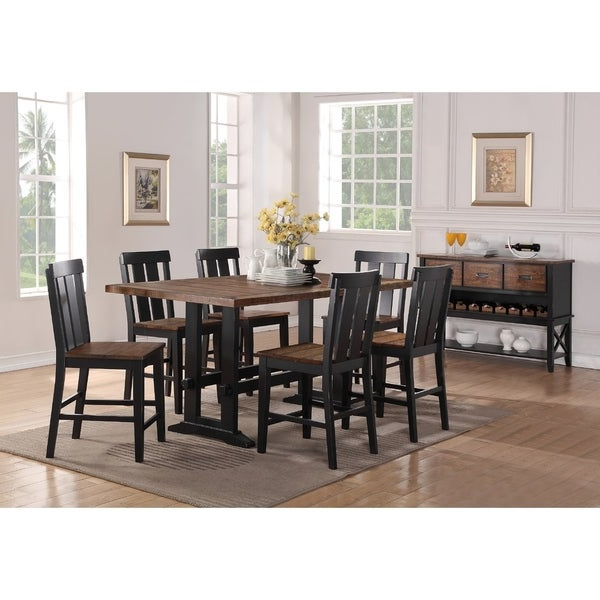Latest Goodman 5 Piece Solid Wood Dining Sets (Set Of 5) Inside Shop Goodman 7 Piece Counter Height Dining Set – Free Shipping Today (View 10 of 20)