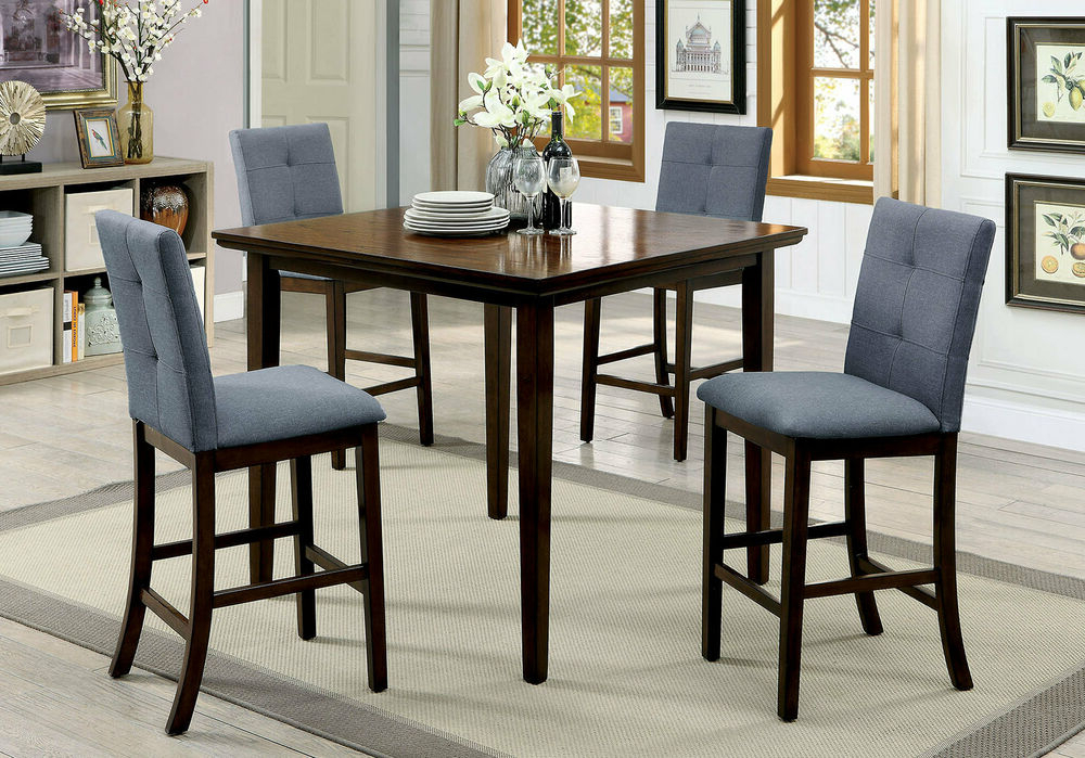 Latest Hanska Wooden 5 Piece Counter Height Dining Table Sets (Set Of 5) Intended For Red Barrel Studio Hann Wooden 5 Piece Counter Height Dining Table (View 7 of 20)