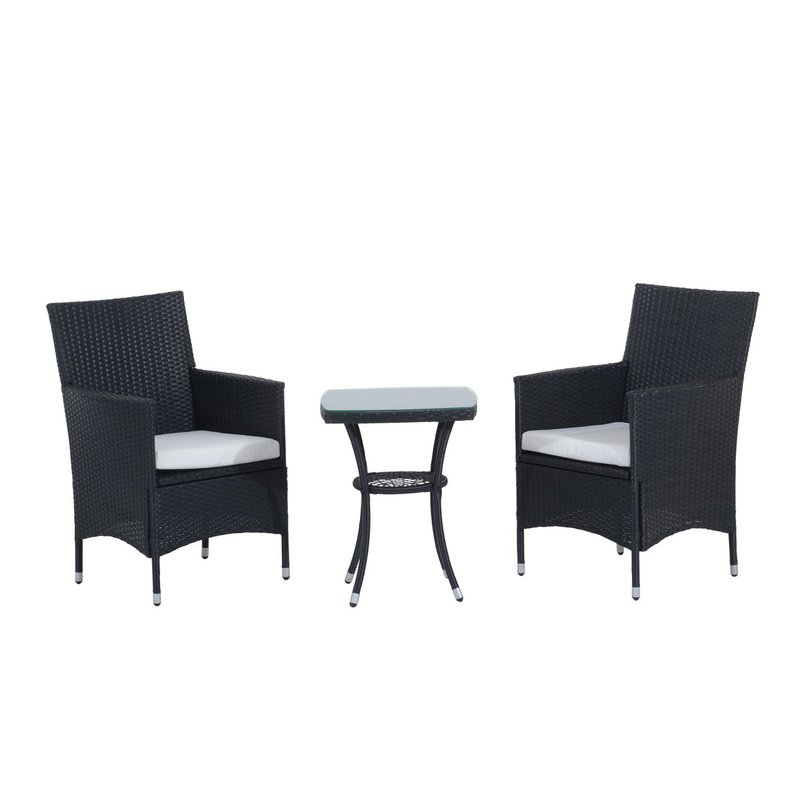 Latest Kinsler 3 Piece Bistro Sets In Sol 72 Outdoor Kinsler 2 Seater Bistro Set With Cushions & Reviews (View 10 of 20)