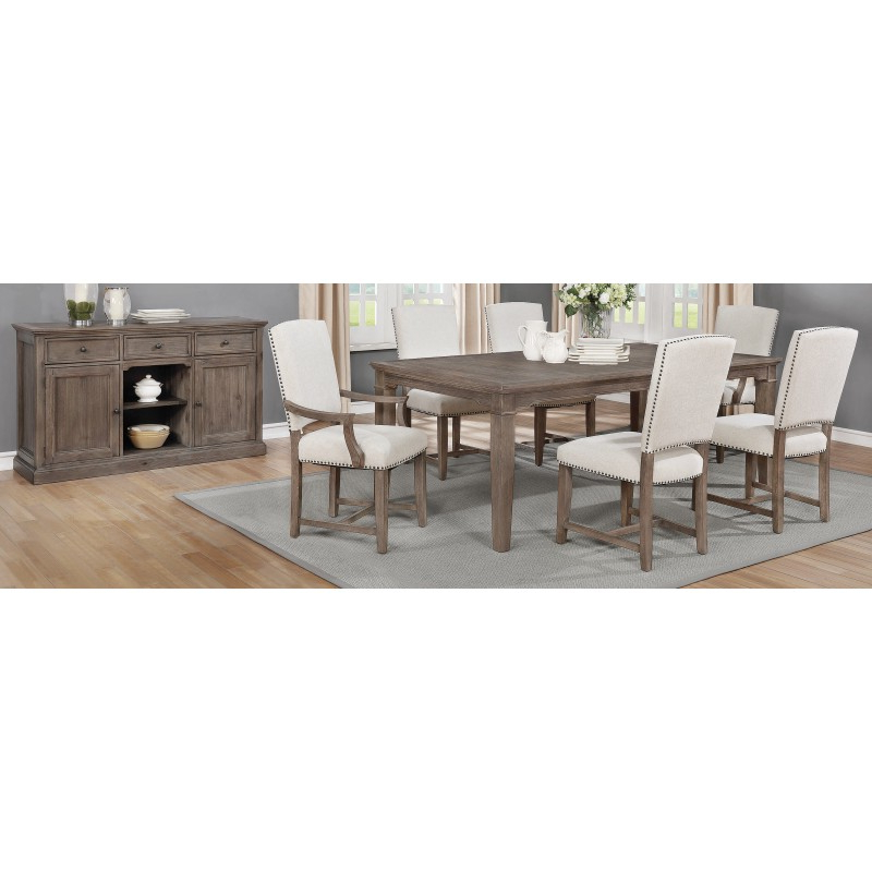 Latest Penelope 5 Piece Dining Set Island Khaki And Rice Grey Throughout Penelope 3 Piece Counter Height Wood Dining Sets (View 5 of 20)