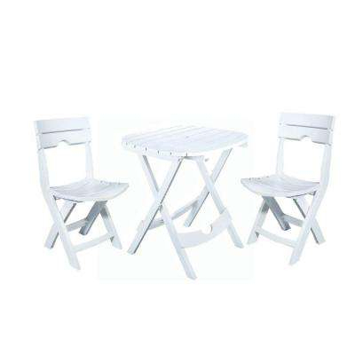Latest Saintcroix 3 Piece Dining Sets Pertaining To Resin – Bistro Sets – Patio Dining Furniture – The Home Depot (View 5 of 20)