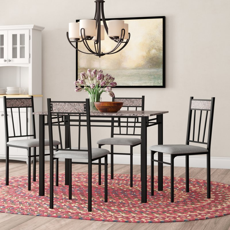 Latest Winston Porter Caspar 5 Piece Dining Set & Reviews (View 4 of 20)