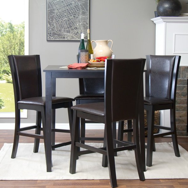 Latitude Run Calla 5 Piece Counter Height Dining Set & Reviews (View 11 of 20)