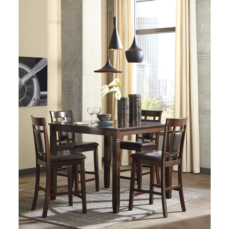 Leger 5 Piece Counter Height Dining Set & Reviews (View 8 of 20)