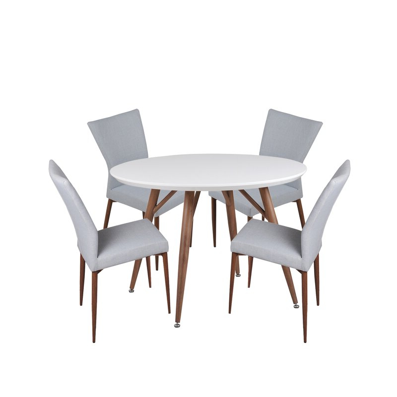 Liles 5 Piece Breakfast Nook Dining Sets Pertaining To 2020 Corrigan Studio Brandyn 5 Piece Breakfast Nook Dining Set (View 16 of 20)