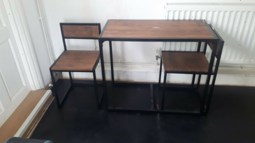 Lonon 3 Piece Dining Sets Pertaining To Latest Harbour Housewares 2 Person Space Saving, Compact, Kitchen (Gallery 13 of 20)