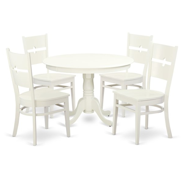 Looking For Artin 5 Piece Dining Setandover Mills 2019 Sale On Throughout Popular Adan 5 Piece Solid Wood Dining Sets (Set Of 5) (Gallery 10 of 20)