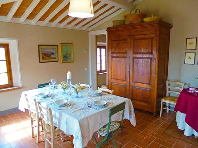 Lovely Country House Located In Gorgeous Tuscan Landscape Throughout 2019 Partin 3 Piece Dining Sets (View 14 of 19)