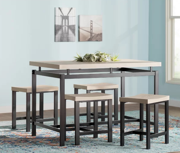 Middleport 5 Piece Dining Sets For Most Current Wayfair Kitchen & Dining Room Sale (View 9 of 20)