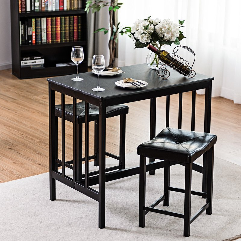 Miskell 5 Piece Dining Sets Pertaining To Most Recent Winston Porter Miskell 3 Piece Dining Set (View 8 of 20)