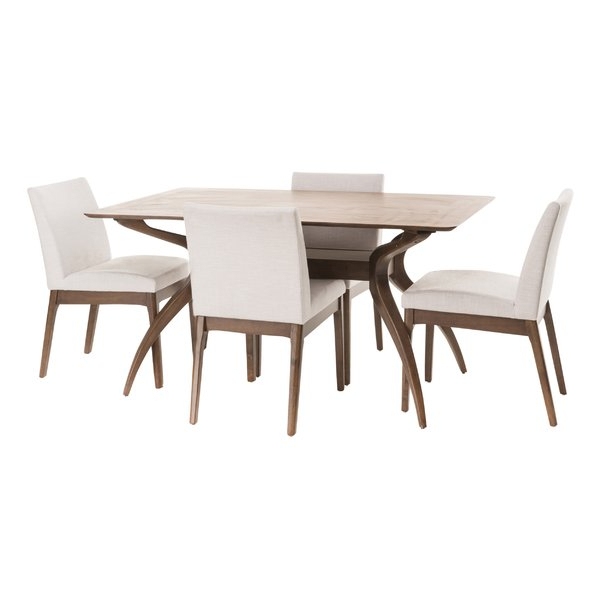 Modern & Contemporary Tunis 5 Piece Dining Set (View 5 of 20)