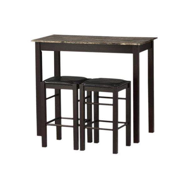 Moorehead 3 Piece Counter Height Dining Sets With Regard To Current Sheetz 3 Piece Counter Height Dining Set In (View 11 of 20)