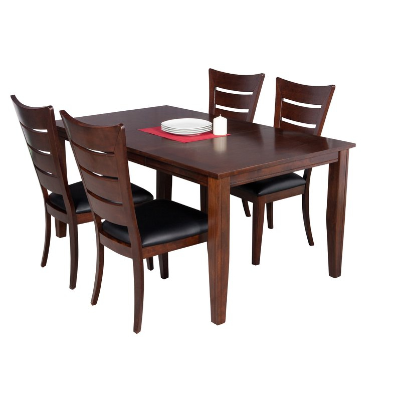 Most Current Adan 5 Piece Solid Wood Dining Sets (Set Of 5) With Regard To Ttpfurnish Aden 5 Piece Solid Wood Dining Set (View 9 of 20)