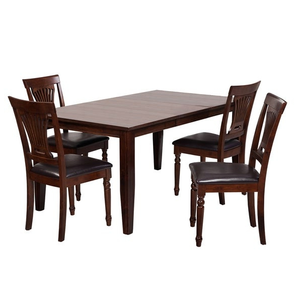 """Most Current Adan 5 Piece Solid Wood Dining Sets (Set Of 5) With Shop 5 Piece Solid Wood Dining Set """"aden"""", Modern Kitchen Table Set (View 10 of 20)"""