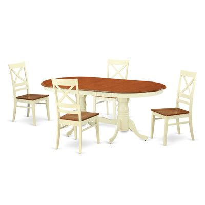 Most Current Baxton Studio Keitaro 5 Piece Dining Sets Regarding Darby Home Co Germantown 5 Piece Dining Set Finish: Buttermilk And (View 18 of 20)