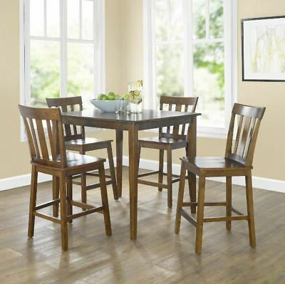 Most Current Counter Height Tall Table Set/dining Room/kitchen Nook/breakfast Inside Denzel 5 Piece Counter Height Breakfast Nook Dining Sets (View 12 of 20)