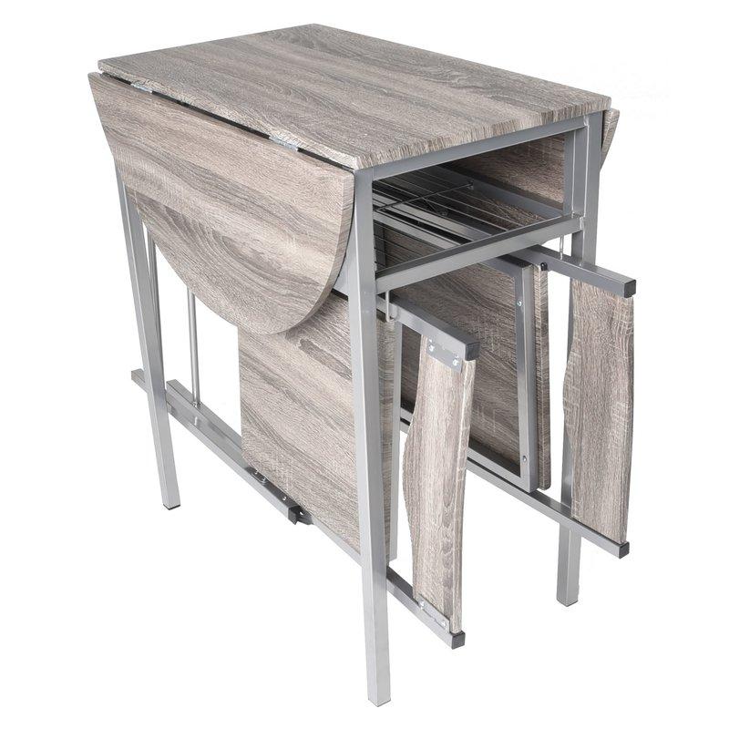 Most Current Ebern Designs Horner Wood 3 Piece Drop Leaf Breakfast Nook Dining Regarding Honoria 3 Piece Dining Sets (View 15 of 20)