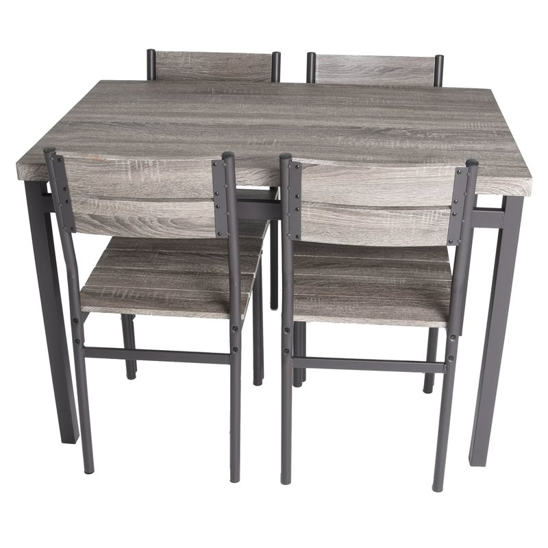 Most Current Emmeline 5 Piece Breakfast Nook Dining Set Regarding Emmeline 5 Piece Breakfast Nook Dining Sets (View 3 of 20)