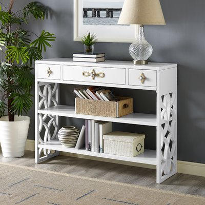Most Current Everly Quinn Partin Modern White Three Drawer With Contrasting Intended For Partin 3 Piece Dining Sets (View 12 of 19)