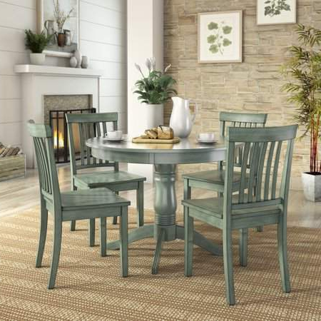 Most Current Lexington 5 Piece Dining Set With Round Table And 4 Mission Back In Sundberg 5 Piece Solid Wood Dining Sets (View 17 of 20)