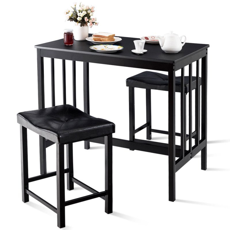 Most Current Miskell 3 Piece Dining Sets For Winston Porter Miskell 3 Piece Dining Set (View 9 of 20)