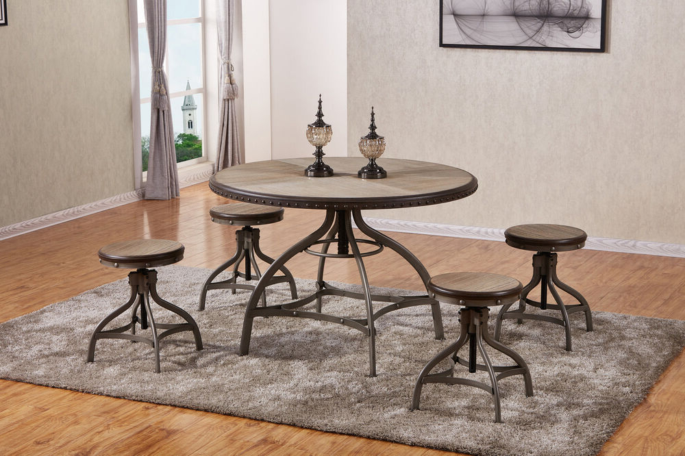 Most Current Rossiter 3 Piece Dining Sets Within 17 Stories Clarklake 5 Piece Dining Set  (View 8 of 20)