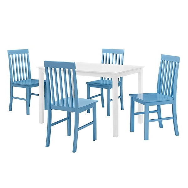 Most Current Shop Delacora We Bdw485Pc Penelope Five Piece Wood Dining Table Set Within Penelope 3 Piece Counter Height Wood Dining Sets (View 7 of 20)