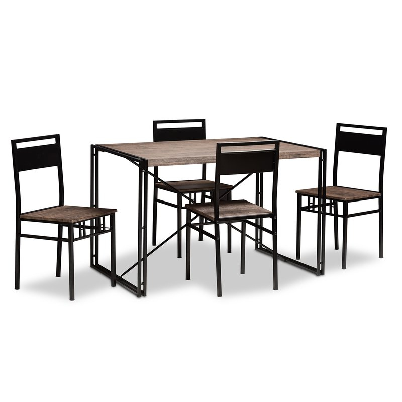 Most Current Stouferberg 5 Piece Dining Sets Pertaining To Williston Forge Mizell 5 Piece Dining Set & Reviews (View 7 of 20)
