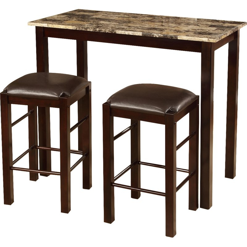 Most Current Winston Porter Penelope 3 Piece Counter Height Wood Dining Set With Penelope 3 Piece Counter Height Wood Dining Sets (Gallery 2 of 20)