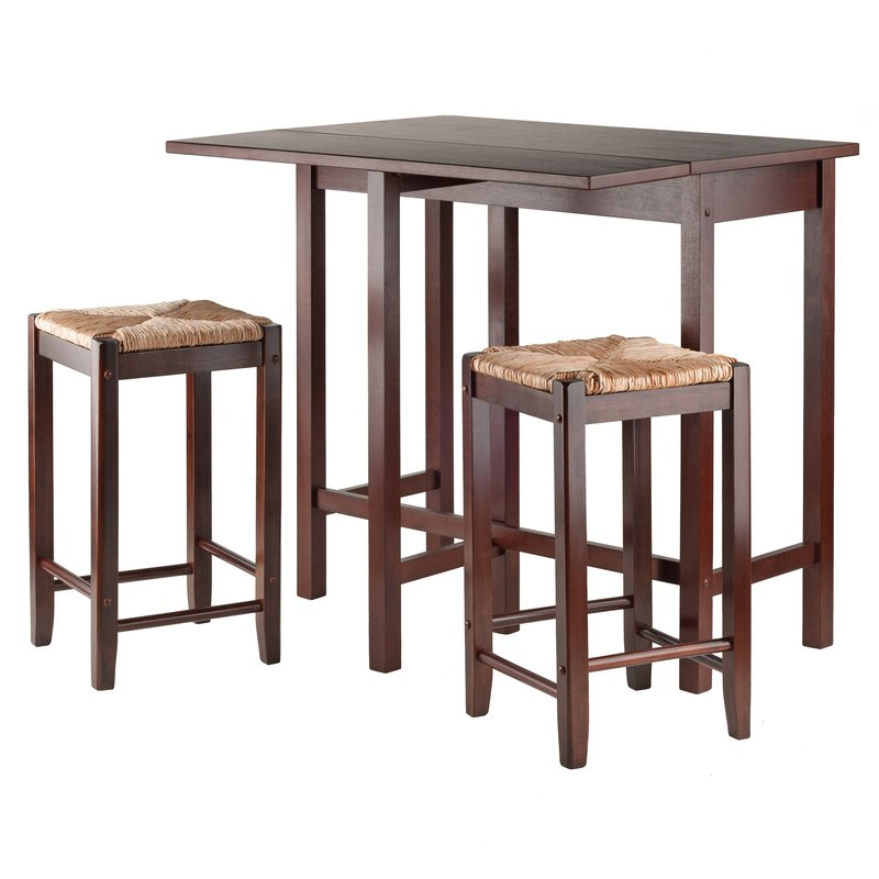 Most Popular Bettencourt 3 Piece Counter Height Dining Sets With Regard To Red Barrel Studio Bettencourt 3 Piece Counter Height Solid Wood (View 4 of 20)