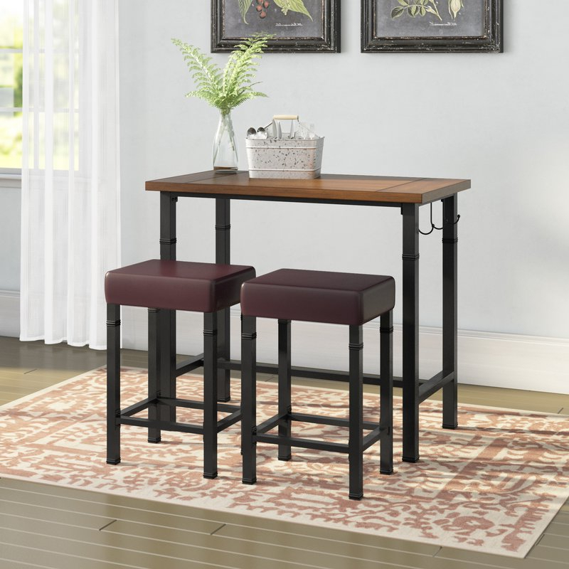 Most Popular Hood Canal 3 Piece Dining Sets Throughout Laurel Foundry Modern Farmhouse Sevigny 3 Piece Pub Table Set (View 6 of 20)
